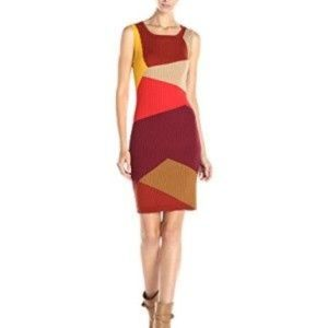 Vince Camuto Ribbed Colorblock Sweater Dress
